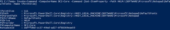 Read Remote Registry PowerShell - Invoke-Command