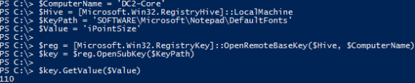 Read Remote Registry PowerShell - PowerShell