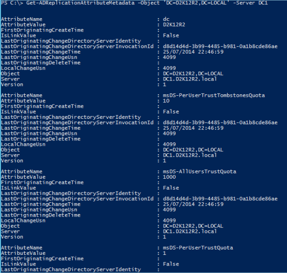 Active Directory Metadata PowerShell - PowerShell DefaultNamingContext