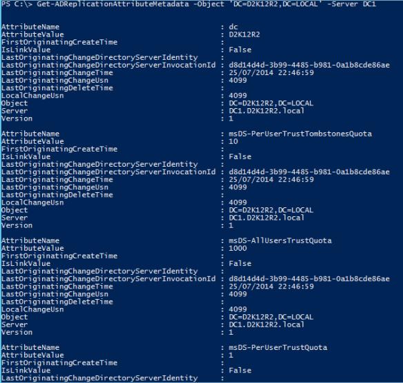 Active Directory Metadata PowerShell - PowerShell DefaultNamingContext