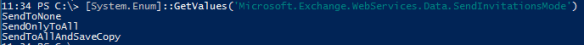 Meeting Request Exchange Web Services PowerShell - Saving Options