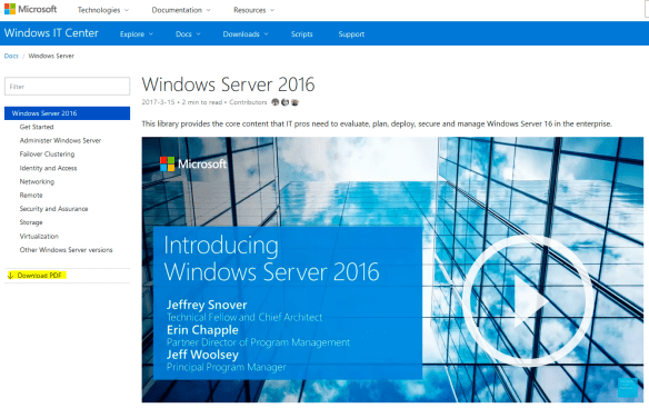Windows Server 2016 Bible PDF - Download Link