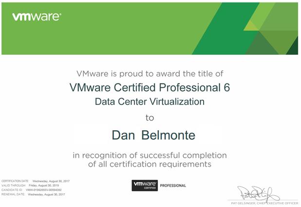 VCP6-DCV achieved! - IT Gaiden