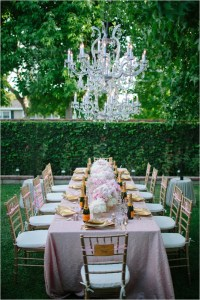 GLAMOROUS BACKYARD SURPRISE BRIDAL SHOWER