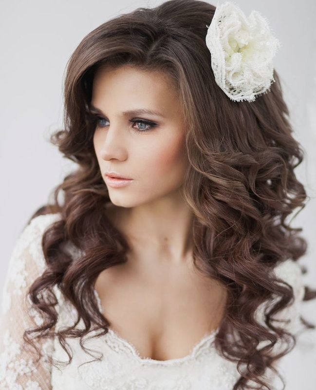 wedding hairstyle down in