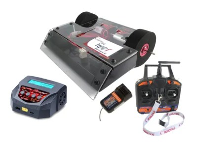 Viper Combat Robot Kit Full Bundle with Radio Transmitter and Receiver, and Lipoly battery charger.