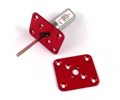 flat motor mount for Fingertech silver spark motors
