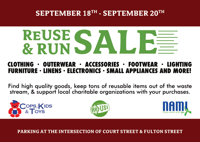 ReUse and Run Returns On Friday, September 18th!
