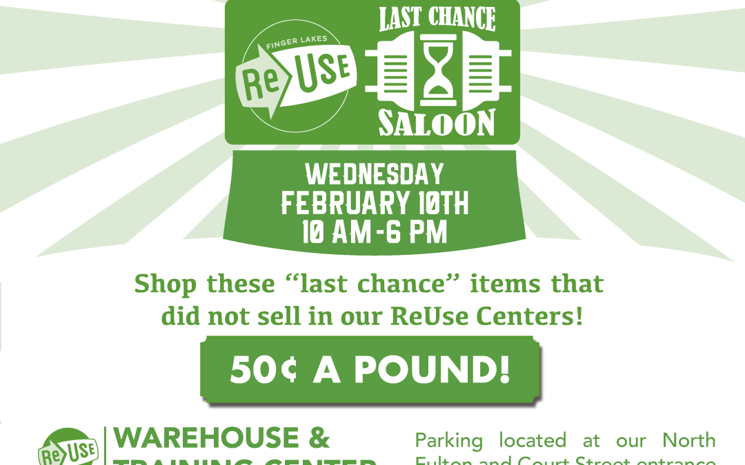 Check Out ReUse's Last Chance Saloon Sale Event This Wednesday!