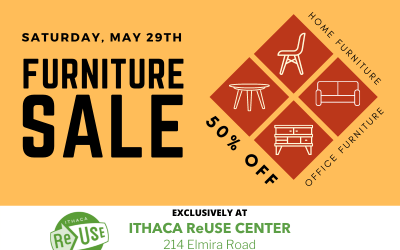 50% Off All Furniture At Ithaca ReUse Center This Saturday!