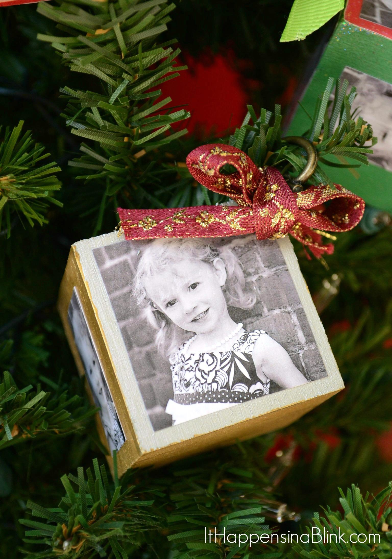 DIY Photo Block Ornaments