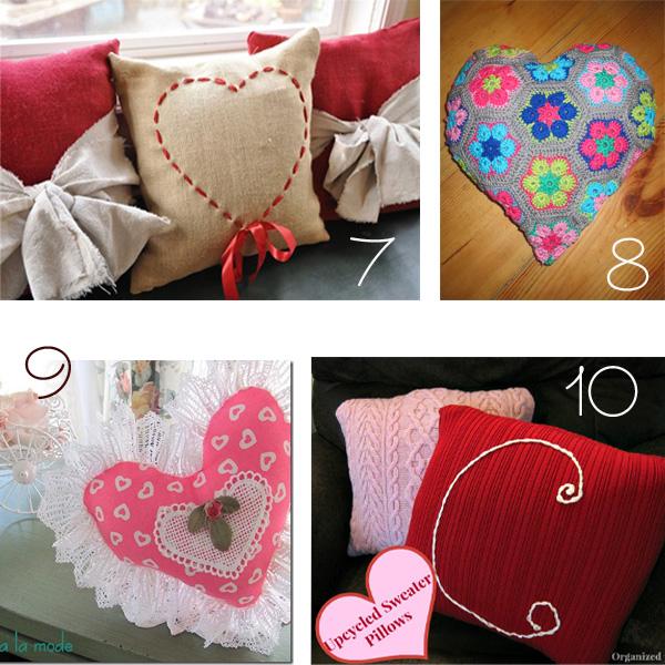 10 diy valentine pillow ideas