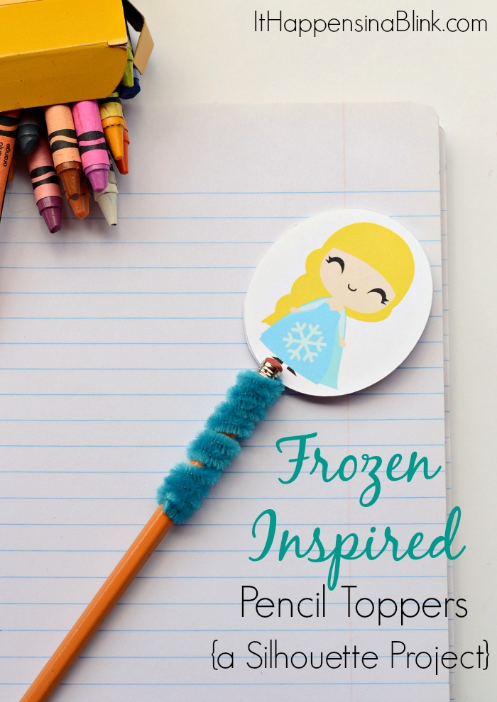 Frozen Inspired Pencil Toppers A Silhouette Project