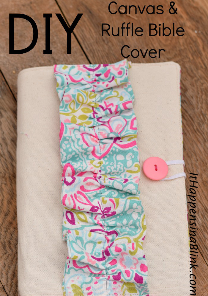 Diy Bible Covers : bible, covers, Canvas, Ruffle, Bible, Cover