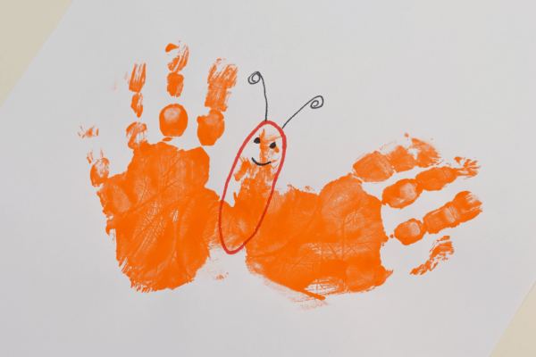 Letter B Handprint Art for Kids