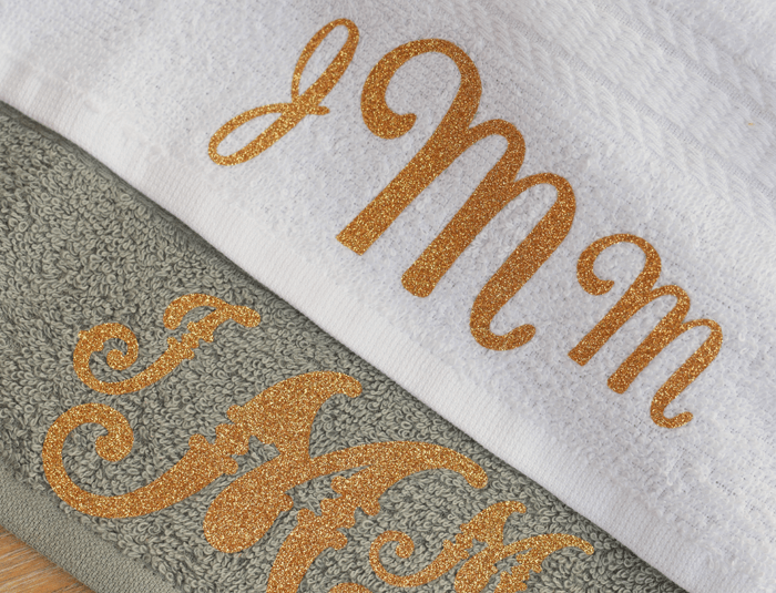monogram on towels