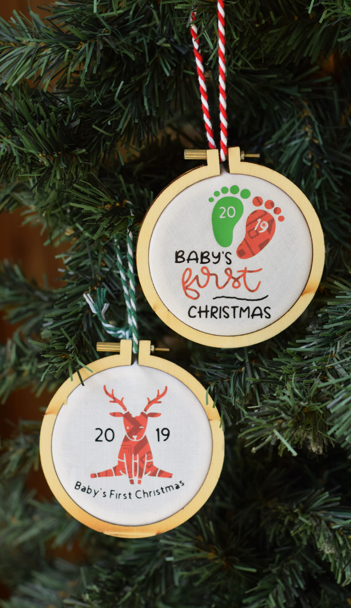 Personalized Baby S First Christmas Ornament With Cricut Explore Air 2