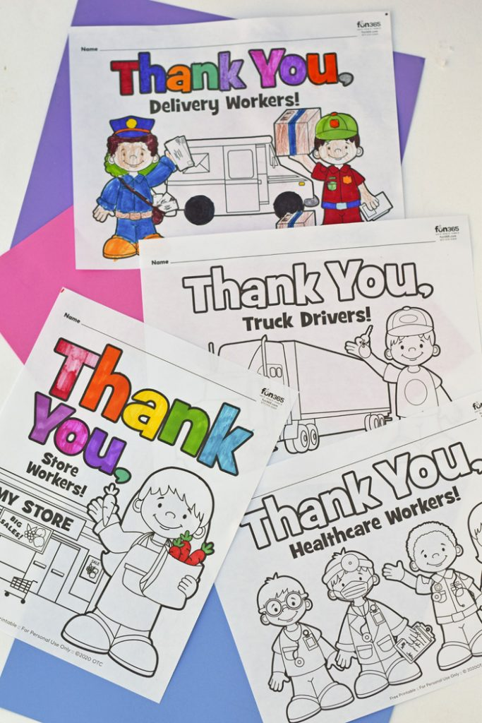 Community Helper Coloring Sheets For Kids