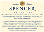 Spencer Trappist Ale back label