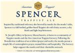 Spencer Trappist Ale back label