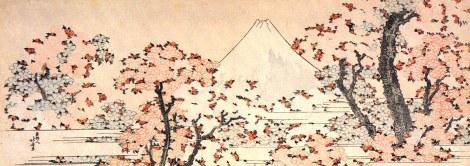 Mount Fuji Seen Through Cherry Blossoms