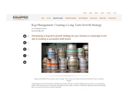 Keg Management Equipped Brewer
