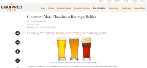 Equipped Brewer - Glassware