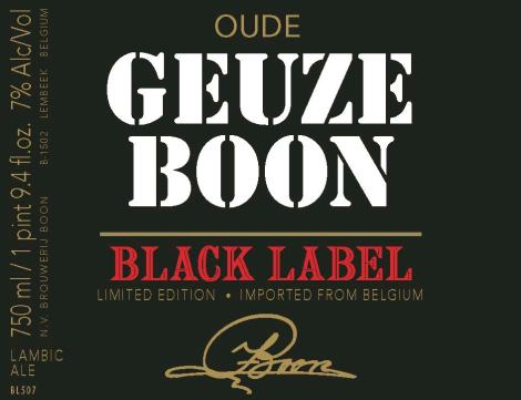 Boon Black Label Oude Geuze Label