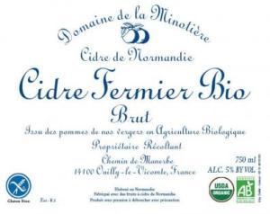 Minotiere Cidre Fermier Bio Brut