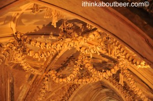 Bones and Arches in the Sedlec Ossuary/Bone Chapel in Kutna Hora