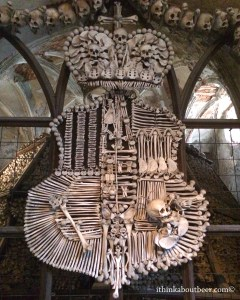 The Schwabenberg Crest in the Sedlec Ossuary/Bone Chapel in Kutna Hora