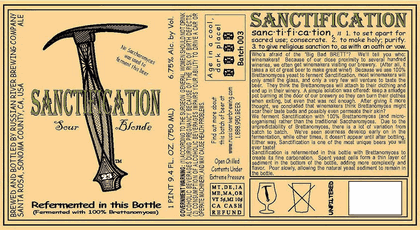 Russian River Brewing Sanctification (Batch 006)
