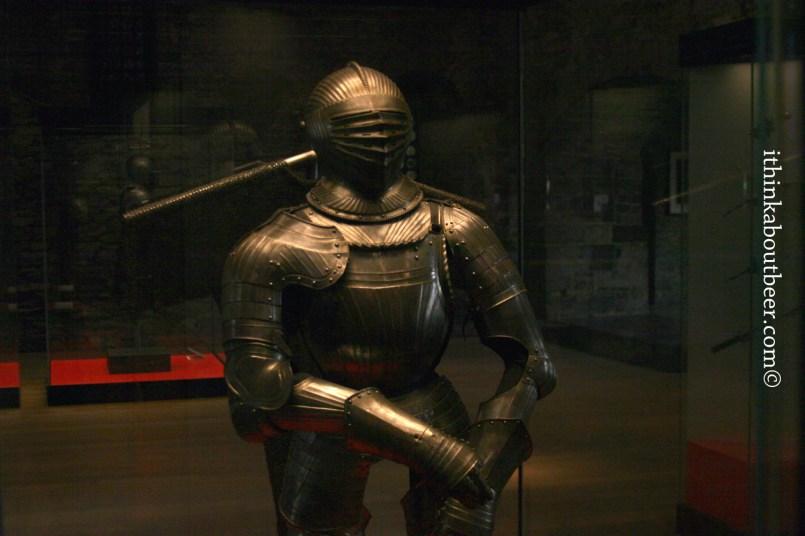 A suit of armor in Gravensteen