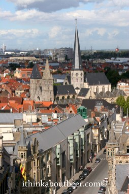 Ghent from the top of the Belfry, Old Ghent in the Foreground, New Ghent in the Background