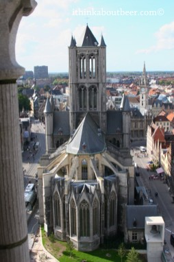 Saint Nicholas Church from the top of the Belfry