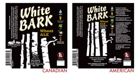 Driftwood Brewing White Bark Witbier