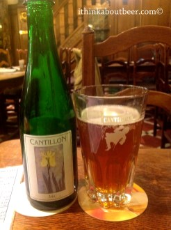 Cantillon Iris at A La Becasse