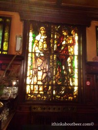 The Stained Glass Window in Au Bon Vieux Temp