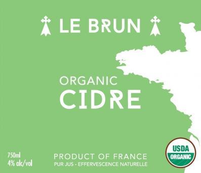 Le Brun Organic Cidre