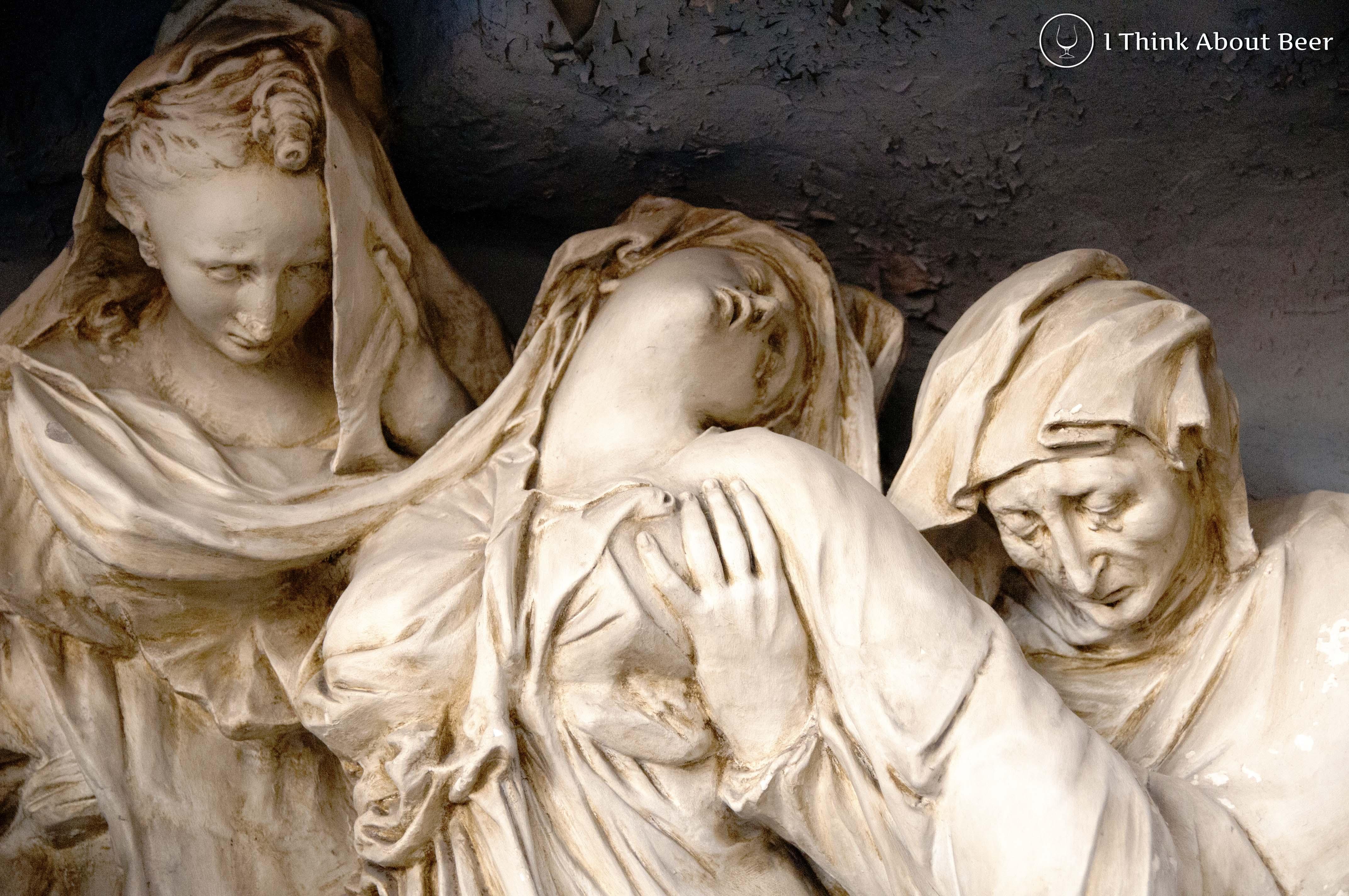 St Bertinus Poperinge Statue of Three Women