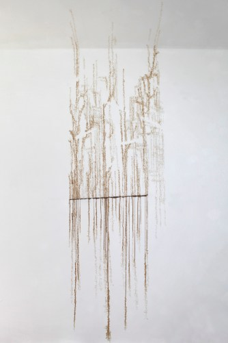 Cheung Hong Sang, Enoch Pseudo Writing – About Rebuilt, 2010 Coffee on paper, dimensions variable Courtesy of the artist © Cheung Hong Sang, Enoch