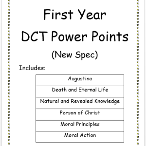 First Year DCT PowerPoints