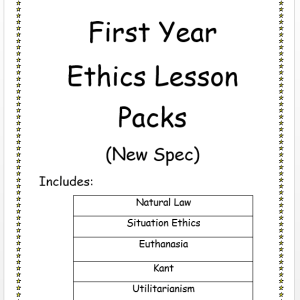 First Year Ethics Lesson Packs