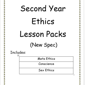 Second Year Ethics Lesson Packs