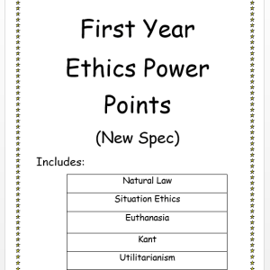 First Year Ethics PowerPoints