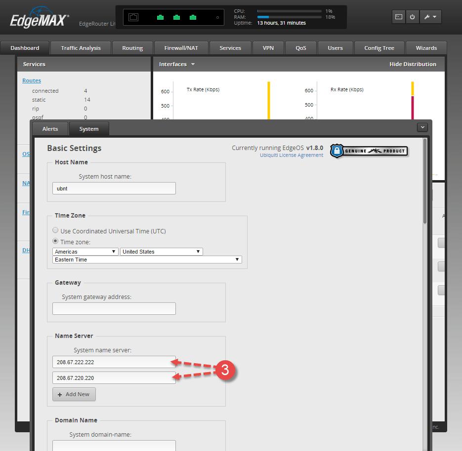 Configure OpenDNS on Ubiquiti EdgeRouter Lite | iThinkVirtual™