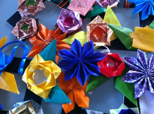 μαγιάτικα στεφάνια origami, itmoskids.com
