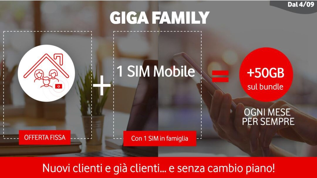 Vodafone卡如何免费获得每个月手机卡送100GB流量(GIGA Family活动)