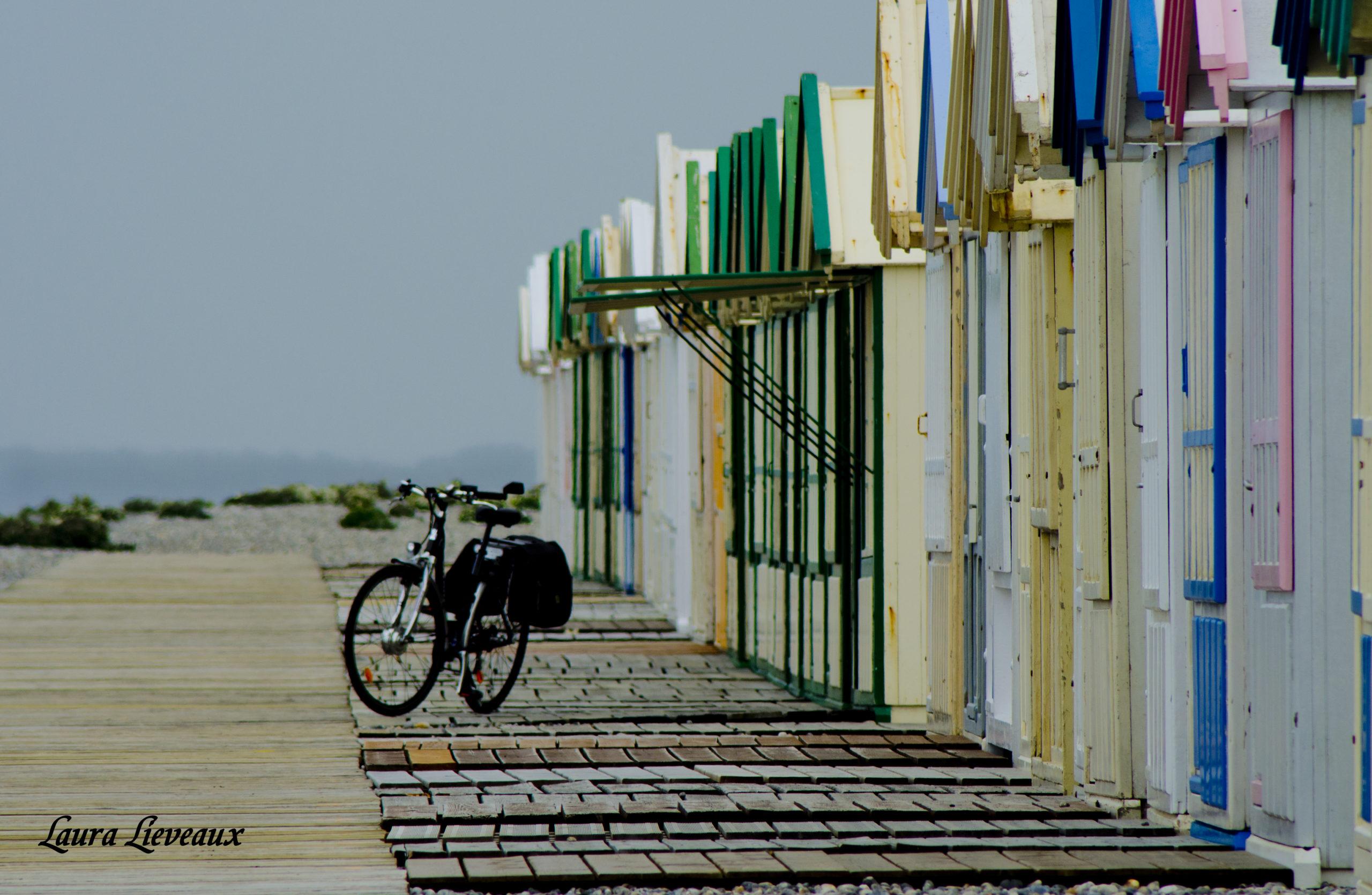 les cabanes colorées sont très représentatives des plages du nord.