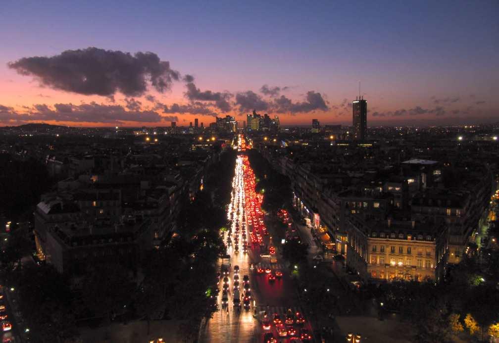 Arc de Triomphe vue nuit